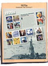#3189 Celebrate the Century 1970's  USPS #9943 Souvenir Page