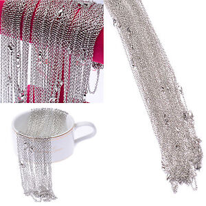 Wholesale Lots 100 Pieces Silver Pld Making DIY Hard Link Chain Necklace 22''