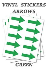 1000 Green Arrow Shaped Stickers Self Adhesive Vinyl Labels size 30mm x 15mm