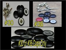 "25-DURA SNAP UPHOLSTERY BUTTONS #30-#36 WITH 3/4"" -1 1/2"" SCREW STUDS-ANY COLOR"