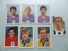 7 Images Vanderhout Vedettes du Football 70-71 Belgique