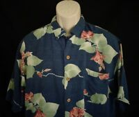 Tommy Bahama Blue Flower short sleeve shirt men's M