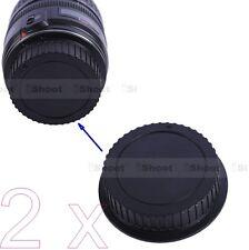 2x Tipo Tappo Obiettivo Posteriore Cover Protettiva per Canon EF EF-S –ABS+PC