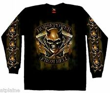 T-Shirt ML HORSEPOWER FROM HELL - Taille XXL - Style BIKER HARLEY