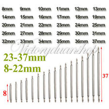 60Pcs 8-37mm Double Flange Watch Band Strap Link Pin Spring Bar Remover Tool