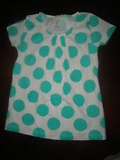 4/5 NWT Crewcuts JCrew White Top w/ BIG Green Dots