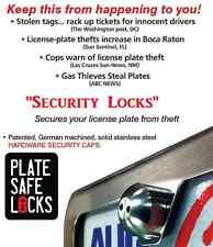 PlateSafe,Anti-Theft,Tamper Free,License Plate Security Locks,Screws,Black Pearl