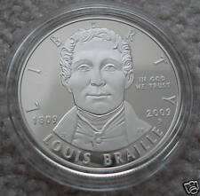 2009 Louis Braille Proof Silver Dollar (BR1)