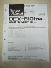 Pioneer Service/Repair Manual~DEX-8101zm/91 CD Player Combination~Original