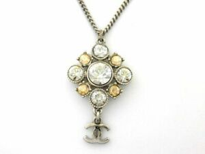 CHANEL Coco Mark Necklace Costume Jewelry Stainless From Japan Shippingfree