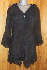 NWT PRETTY ANGEL blouse shirt tunic BOLERO 1X GYPSY ruffles & lace VINTAGE black
