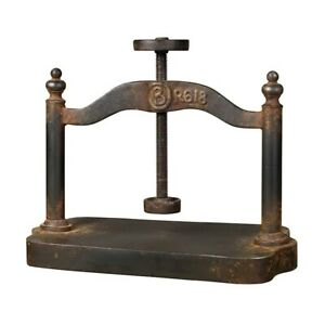 Elk Home Cast Iron Book Press, Restoration Rusted Black - 129-1009