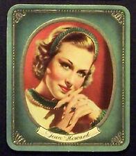 Jean Howard 1937 Garbaty Passion Film Favorites Embossed Cigarette Card #73