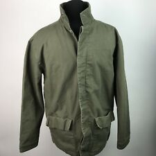 Gap Mens Military Green Utility Jacket Insulated Button Down Size XL AM75