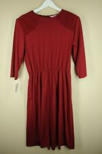 Vintage Blair Women's Cranberry Polyester 80's Does 40's Dress Size 14