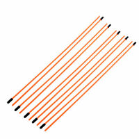 10 Pcs 3mm x 1.5mm Orange Plastic Antenna Pipe Receiver Aerial for RC Model Car
