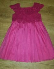 Monsoon Estella crochet pink dress 18-24mnths bridesmaid flowergirl