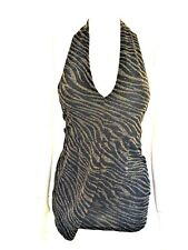 NEW ZARA ANIMAL PRINT LUREX DRESS TUNIC LONG TOP SIZE S UK 6-8 RRP £25