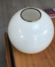 antique white glass oil lamp shade