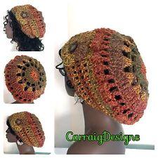 Women Afro dread locks tam mandala hat beanie handmade knitted sale Xmas crochet