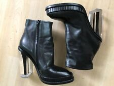 Maison Martin Margiela Black Plexi Heel Ankle Boots