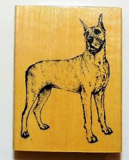 Great Dane Stamp Gallery Wood Rubber Mounted NEW
