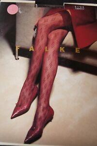 Falke Tobacco Brown Diamond Patterned Sheer Hold Ups