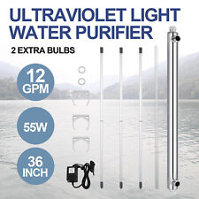 Ultraviolet Filter UV Water Sterilizer Purifier Whole House 12GPM 55w