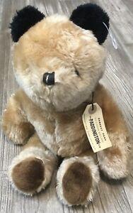 Vintage Paddington Bear Eden 1975 Brown Stuffed Animal Teddy Bear EUC N4