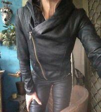 Helmut Lang Lamb Leather Hooded Jacket Sz S