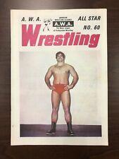 Vintage wrestling program, AWA, early 1970s, Muraco, Koloff, Gagne