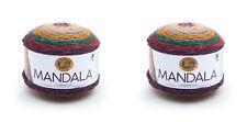 Lion Brand Yarn Mandala Warlock 525-215 Yarn Cakes 2 Pack