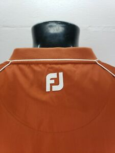 FootJoy FJ V-Neck Windbreaker Pullover Mens XL Burnt Orange Sandman Aldeen CC