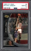 1998-99 Upper Deck Ionix #6 Michael Jordan Chicago Bulls HOF PSA 10 GEM MINT