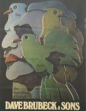 Konzertplakat von Günther Kieser: Dave Brubek & Sons 1974