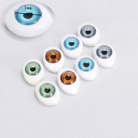 4 Pairs Plastic Oval Hollow Back Doll Eyes DIY Dollfie Eyes Eyeballs 5mm