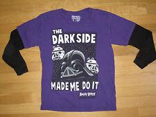 STAR WARS ANGRY BIRDS 'The Dark Side ..' - Long Sleeve PURPLE Shirt BOYS Small
