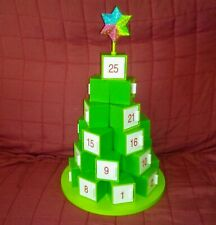 GREEN TREE Christmas Countdown Days to Christmas Numbered Doors Open Refillable