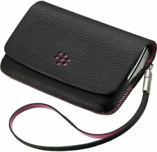 BlackBerry Torch 9800 Leather Folio Case Black with Pink ACC-32839-201