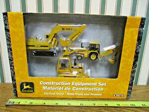 John Deere Excavator/Backhoe Loader/Bulldozer Equipment Set By Ertl >