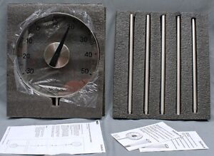 CELSIUS blomus GRADO Garden Thermometer Stainless Steel OPEN BOX See Thru Face