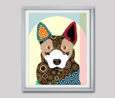 Australian Cattle Dog Pet Portrait Animal Lover Gift Wall Decoration Painting