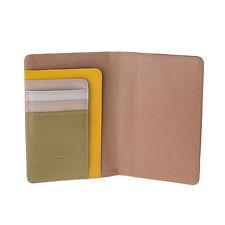 DuDu Porta passaporto in pelle Safari multicolore con tasche porta carte