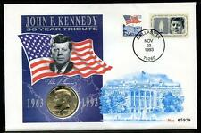 30 Year Tribute to John F. Kennedy stamp & coin cover (2016/10/10#01)