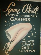Lynne O'Neill The Garter girl Stunning vintage 1950's Ad Pinup  Poster +more