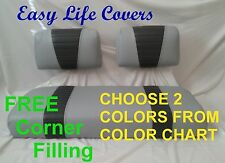 CLUB CAR DS GOLF CART CUSTOM SEAT COVERS FRONT&REAR COMBO #67T.S.Q.B. STAPLE ON