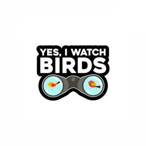 Ornithologist Birdwatcher For Bird Watching Sticker Vinyl Decal 3x5 inch 7-227