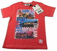 Boys T Shirt White Red Blue Cotton Freaky Ages 2-3Y 3-4Y 5-6Y 7-8Y 9-10Y 11-12Y