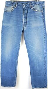 "VTG Levi's Men's 501 Medium Wash Denim Straight Leg Button Fly Jeans Sz 36x32"""