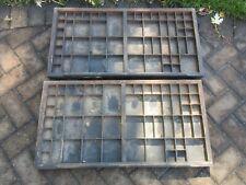 ( 2 ) Antique Letterpress Hamilton - Type Case - Shadow Box - Drawer  H35
